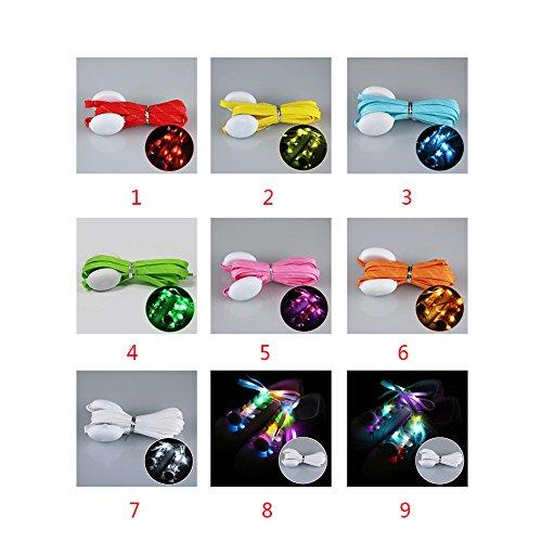 Cordones parpadeantes, LED multicolor a batería, zapatos de colores intermitentes Tamaño libre rosso