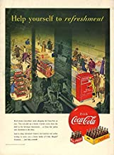 Help yourself to refreshment - Coca-Cola grocery store vending machine ad 1950 L