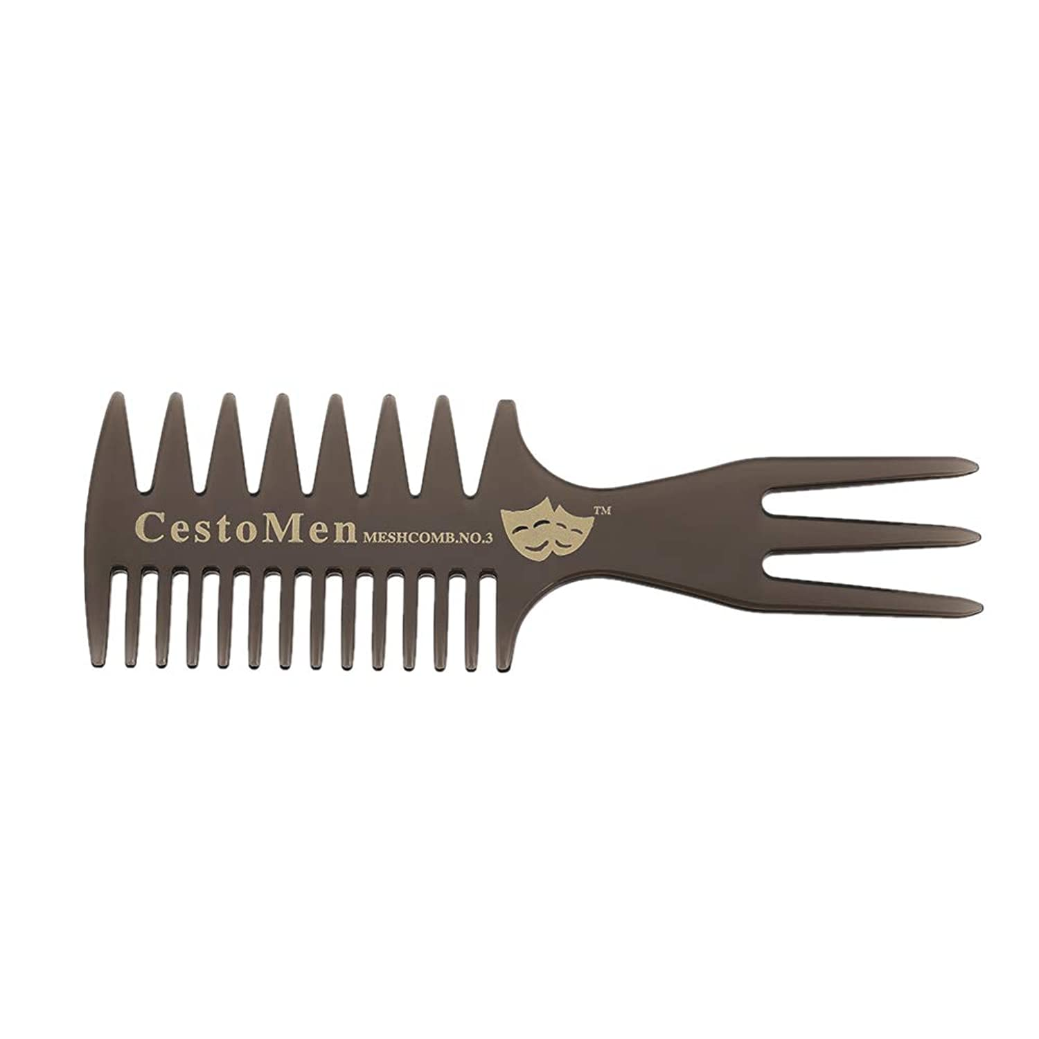 Three-sided Hair Comb Insert Afro Hair Pick Comb Male Wide Tooth Classic Oil Slick Styling Hair Brush For Hair Styling Tool