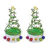 jojofuny 2Pcs Christmas Hat Santa Hat Funny Novelty Christmas Hats Xmas Holiday Spiral Hat Headdress for Christmas Party Favors New Year Festive Holiday Party Supplies