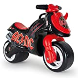 INJUSA - Moto Correpasillos Neox AC/DC Color Negro con Ruedas Anchas Decoración Permanente y Asa de Transporte Recomendada para Niños +18 Meses