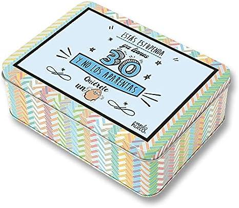 Regalo Mujer 30 años. Pack Caja metálica 18x13x6 cm, Bolsa 35x40 cm, Pulsera, libreta A-6 y boli. Ya Tienes 30 y no los aparentas: Amazon.es: Hogar