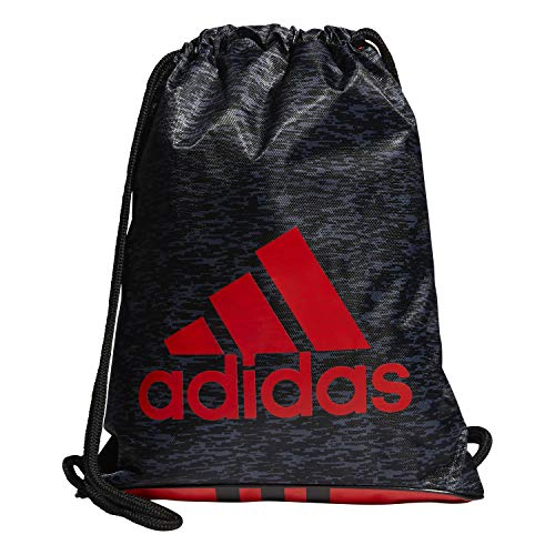 adidas Unisex Burst Sackpack, Black Bookend/Black/Active Red, ONE SIZE