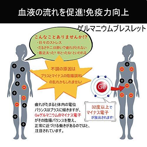 Pasiroゲルマニウムブレスレットレディースタングステン製20cm静電気除去睡眠改善肩こり解消血行促進磁気ブレスレットローズゴールド