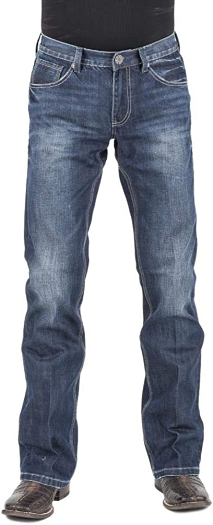 Stetson Western Jeans Mens Low Rise Bootcut Blue 11-004-1014-2020 BU