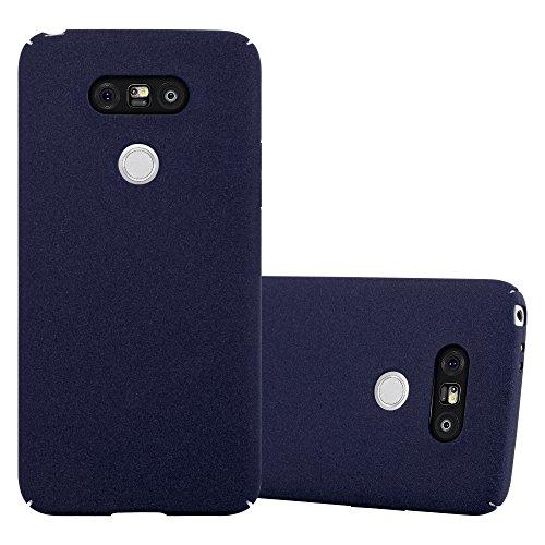 Cadorabo Custodia per LG G5 in FROSTY AZZURRO - Rigida Cover Protettiva Sottile con Bordo Protezione - Back Hard Case Ultra Slim Bumper Antiurto Guscio Plastica