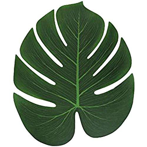 YuKeShop 30 plantas artificiales de palma, decoración de hojas de palma tropical, hojas de imitación de helechos, plantas artificiales, hojas para el hogar, cocina, fiestas, flores, arreglos de boda