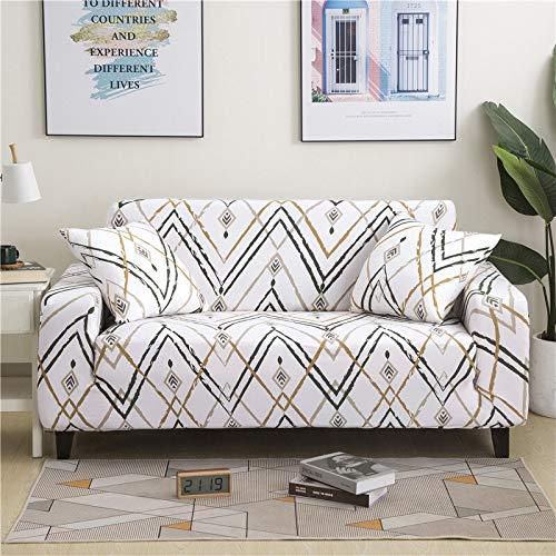 WXQY Funda Protectora de sofá elástica de Flores Simple combinación de Esquina en Forma de L Funda de sofá Antideslizante Funda de sofá de protección para Mascotas A22 2 plazas