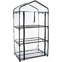 Pure Garden 3-Tier Greenhouse with Zippered Cover and Metal Shelves