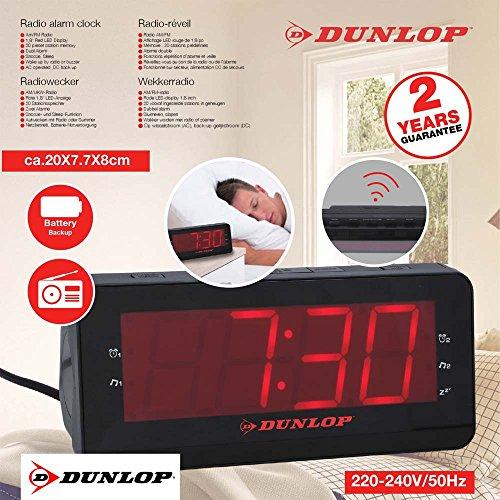 Dunlop FM Clock Radio Radiorekorder