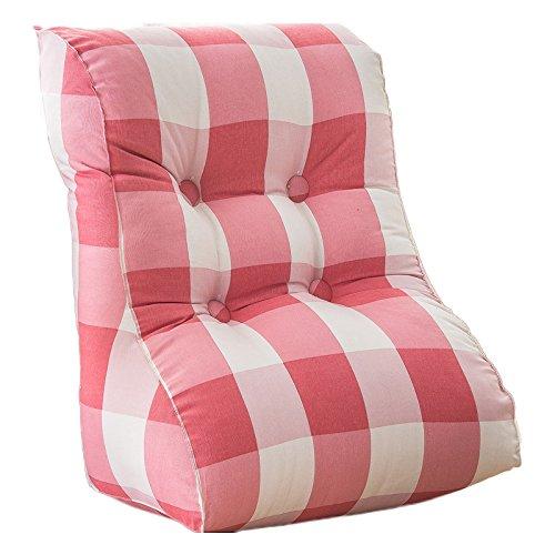 ZWL Coussin de canapé triangle, dossier de bureau de chaise Chambre de tournure Coussin de taille grande coussin Chaise de chaise, lavable en coton 45-55cm mode z ( Couleur : #1 , taille : 45*55*30CM )