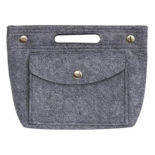 SHINGONE Filz Handtaschen Organizer Speedy Innentasche für Handtasche, Leicht Taschenorganizer Bag in Bag Organizer, Damen Taschenorganizer Grau