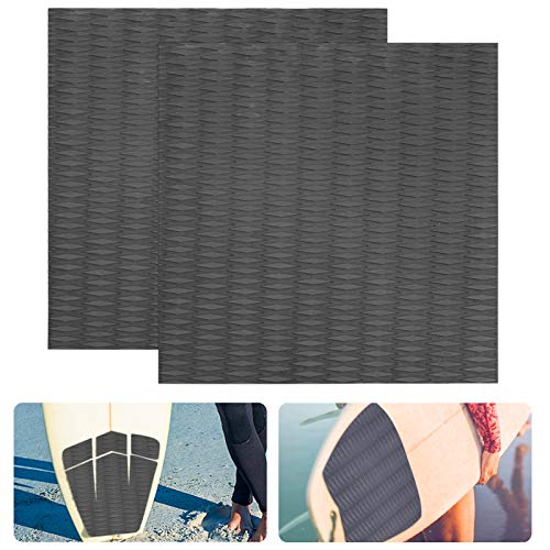 2 Pack Non-Slip Traction Pad Deck Grip Mat- 19.75' × 19.75' 3M Adhesive Trimmable EVA Traction Anti-Slip Foam Pad Sheet for SUP Boat Kayak Yacht Skimboard Surfboard Standup Paddle Boards Pool Steps