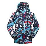SR-Keistog Hombres Invierno Térmico Impermeable Ropa a Prueba de Viento Pantalones de Nieve Chaqueta de esquí Trajes de esquí y Snowboard color02 XL