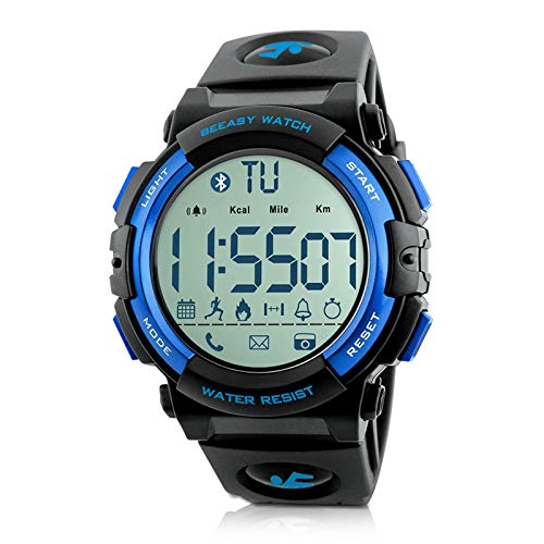 Beeasy Mens Digital Sport Watch with Pedometer 49mm Big Number Military Watches Waterproof with...