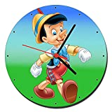 MasTazas Pinocho Pinocchio Reloj de Pared Wall Clock 20cm