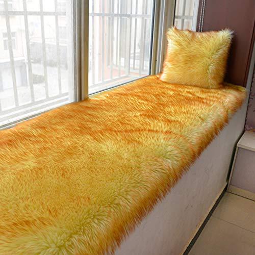 Plush Thickened Window Seat Cushions Indoor,Solid Color Bay Window Cushion,Not-slip Windowsill Pad Floor Mat For Bedroom