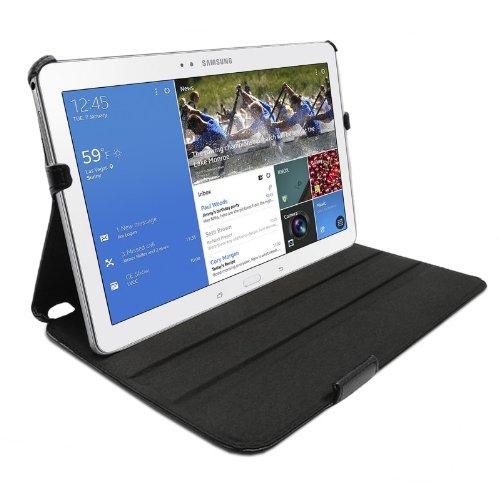 eFabrik Tasche für Samsung Galaxy Tab PRO 10.1 Hülle Hülle Cover Schutztasche Etui Schutzhülle mit Aufsteller Leder-Optik schwarz