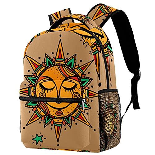 Mochila para Escuela Flor del Sol Mochila para Adolescentes Mochila Escolar Impresión Bolsa para La Escuela Backpack para Escuela Viajes Deportes 29.4x20x40cm