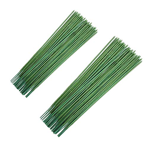 N A 100 piezas de alambre de tallo floral calibre 18, alambre de tallo verde oscuro para flores, alambre floral de 9.8...
