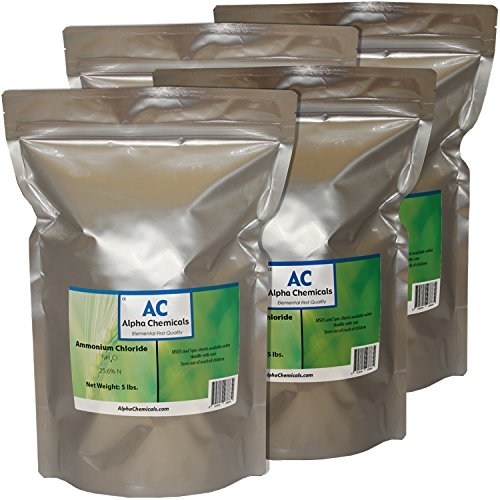 Ammonium Chloride - NH4Cl - 20 Pounds - (4-5 lb Bags)