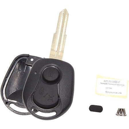 Sourcing Map Auto Schlüssel Hülle Gehäuse 2 Tasten Funkschlüssel Fernbedienung Deckel Schal Silikon Cover Auto