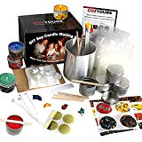 cozyours diy soy candle making kit for beginners (soy wax, fragrance oils, pouring pot, candle