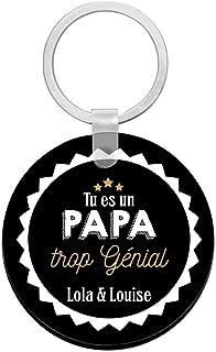 Cadeau papa - Porte clés à personnaliser avec prénons papa trop génial - porte clé papa - cadeau fête des pères
