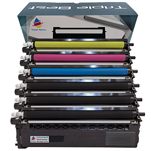 Triple Best Set of 6 Compatible TN315BK TN315C TN315M TN315Y Color Laser Toner Cartridges for Replacement of Brother TN315 Black Cyan Magenta Yellow High Yield Laser Toner Cartridges
