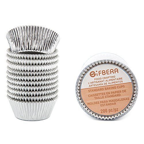 Our #3 Pick is the Gifbera Standard Silver Foil Baking Cup Liners