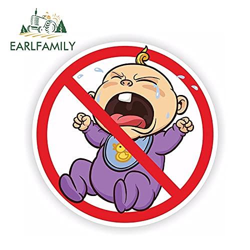 PJYGNK Sticker de Carro 13 cm x 13 cm Pegatina sin llanto para bebés bebé para Puerta de Parachoques Coche camión Nevera Pegatina Reflectante para Coche decoración Impermeable