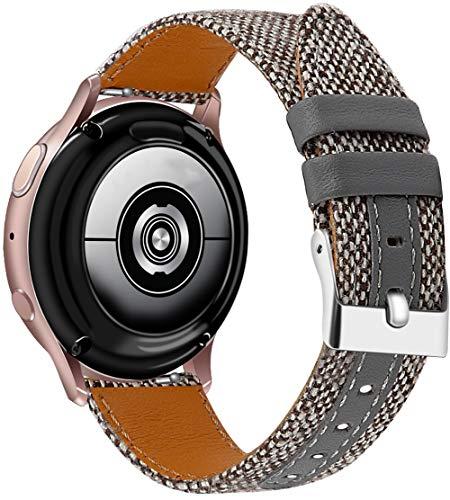 Othor - Correa de reloj de tela compatible con Amazfit GTR 42 mm / GTS/Bip/Bip Lite, correa para reloj 22mm gris