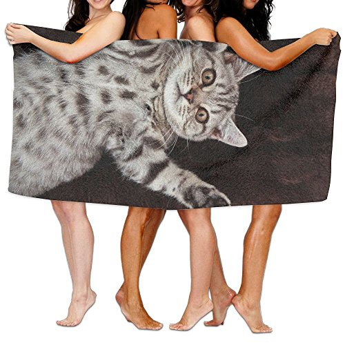 xinhengchang3506 Soft Big Unique Soft British Shorthair Cat Pattern Design Oversized Beach Towel Pool Towel,Swim Towels For Bathroom,Gym,and Pool 31 In X51 In