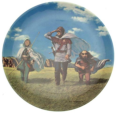 Wedgwood Seigneur des anneaux plaque poursuite de Rohan Par Ted Nasmith-CP871