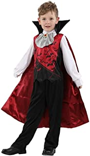 Halloween Kids Fancy Dress Costume, Vampire Count Costumes Suitable for Under 17 Years Old (Color : Black, Size : M)