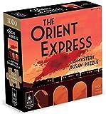University Games 33122 The Orient Express 1000 Piece Murder Mystery Jigsaw Puzzle, Orange