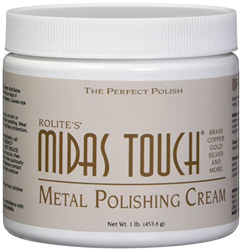 Midas Touch Metal Polishing Cream – 1lb, Cleaner & Polishing Rouge for Sterling Silver, Gold, Brass & Other Metals, 1 Pack, by Rolite