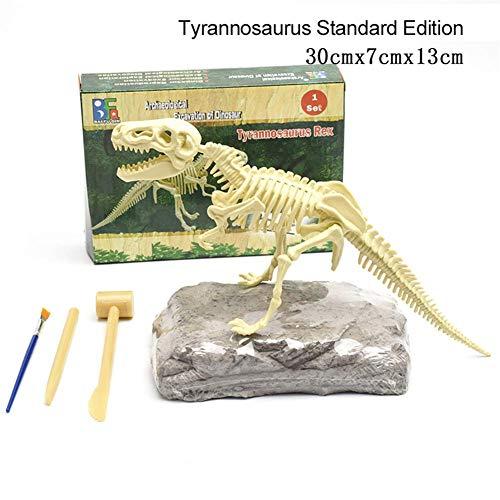 SHOH Kit De Excavación De Fósiles De Dinosaurios para Niños, Kit De Ciencia De Dinosaurios, Kit De Excavación Tyrannosaurus Rex, Educativo De Paleontología Y Arqueología para Niños