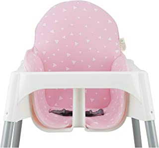 Janabebé Cushion for high Chair IKEA Antilop (Pink Sparkles)