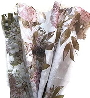 Boutique Printed Tissue Paper for Gift Wrapping with Victorian Floral Design, Decorative Tissue Paper - 24 Large Sheets, 20x30
