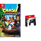 Crash Bandicoot N.Sane Trilogy & Nintendo Switch - Mando Pro Controller, Con Cable USB