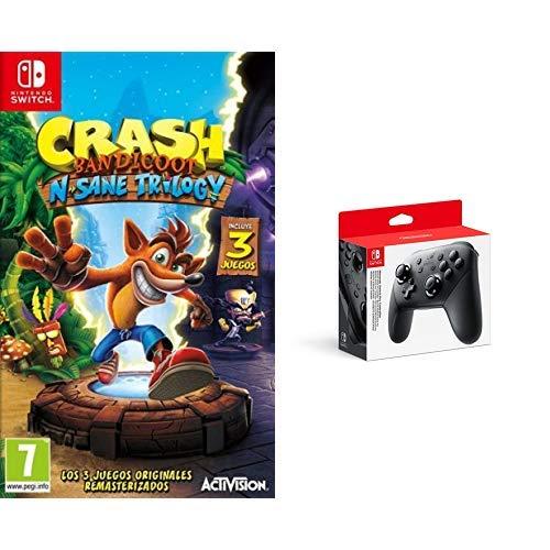 Crash Bandicoot N.Sane Trilogy & Nintendo Switch - Mando Pro Controller, Con Cable USB