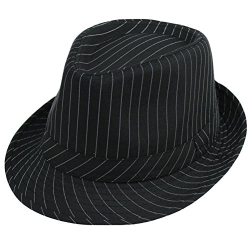 Zhhlinyuan Fashion Design Unisex Retro Stripe Fedora Hat Comfortable Casual Jazz Chapeau