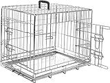 Karlie K&F Jaula Plateada Perro 2 Puertas S 63X49X43 Cm 5 150 ml