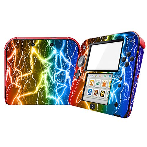 Lightning Design Video Game Vinyl Skin Decal for Nintendo 2DS System Console Sticker