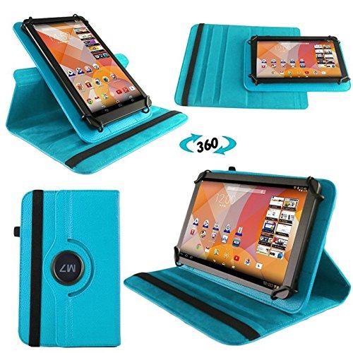 NAUC Tasche Hülle für Blaupunkt Endeavour 101M 101L Tablet Schutzhülle Case Tab Cover, Farben:Hellblau