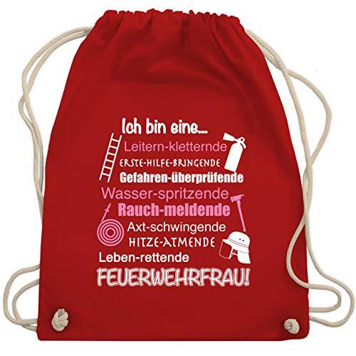 Shirtracer Feuerwehr - Ich bin eine Feuerwehrfrau! - Unisize - Rot - adventskalender geschenke - WM110 - Turnbeutel und Stoffbeutel aus Baumwolle