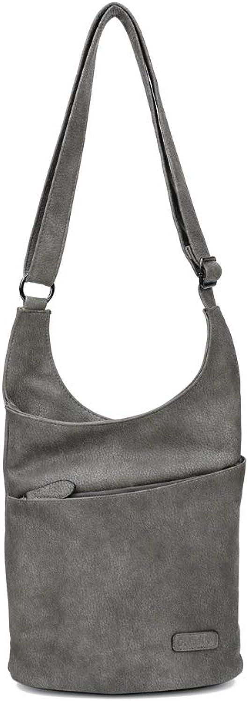 CASAdiNOVA - Umhängetasche Damen Grau Groß - Crossbody Bag - PU Leder Schultertasche - Messenger Handtasche - Damen Tasche – premium Qualität B07B9HHW3N  Ausgezeichnete Leistung