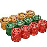 LQIAN Fichas de póquer con chip de negociación, 1 pieza de club de póquer de gama alta de cerámica Baccarat Mahjong sala de ajedrez Casino Chip Moneda Card (Color: 10000)