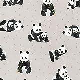 Robert Kaufman RKFLAN04 Flanell-Stoff – Pandas Grau –